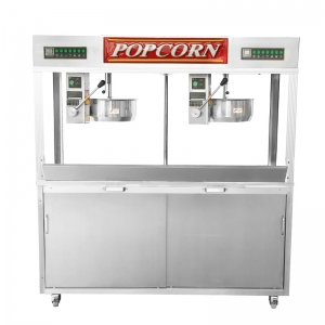 Twin Kettle Popcorn Machine
