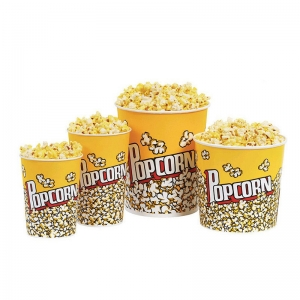 Cardboard Popcorn Cup Snack Fast Food Packaging Box